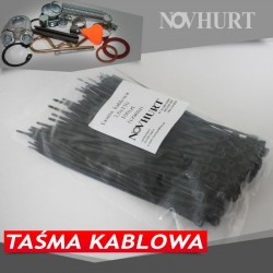 Taśma kablowa czarna 4,8mm